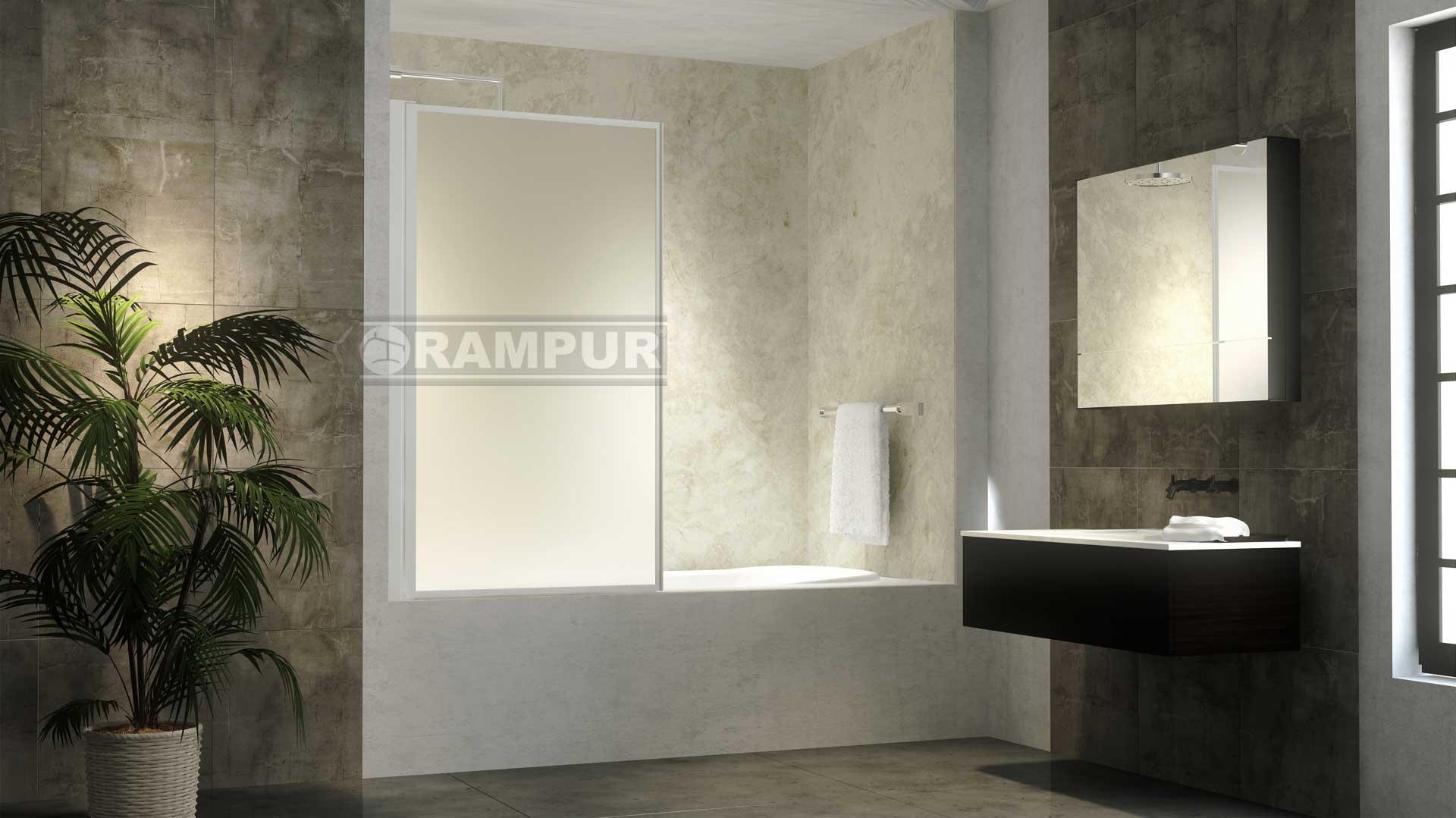 Rampur mamparas rebatibles de acrilico andes premium for Modelos de baneras para bano