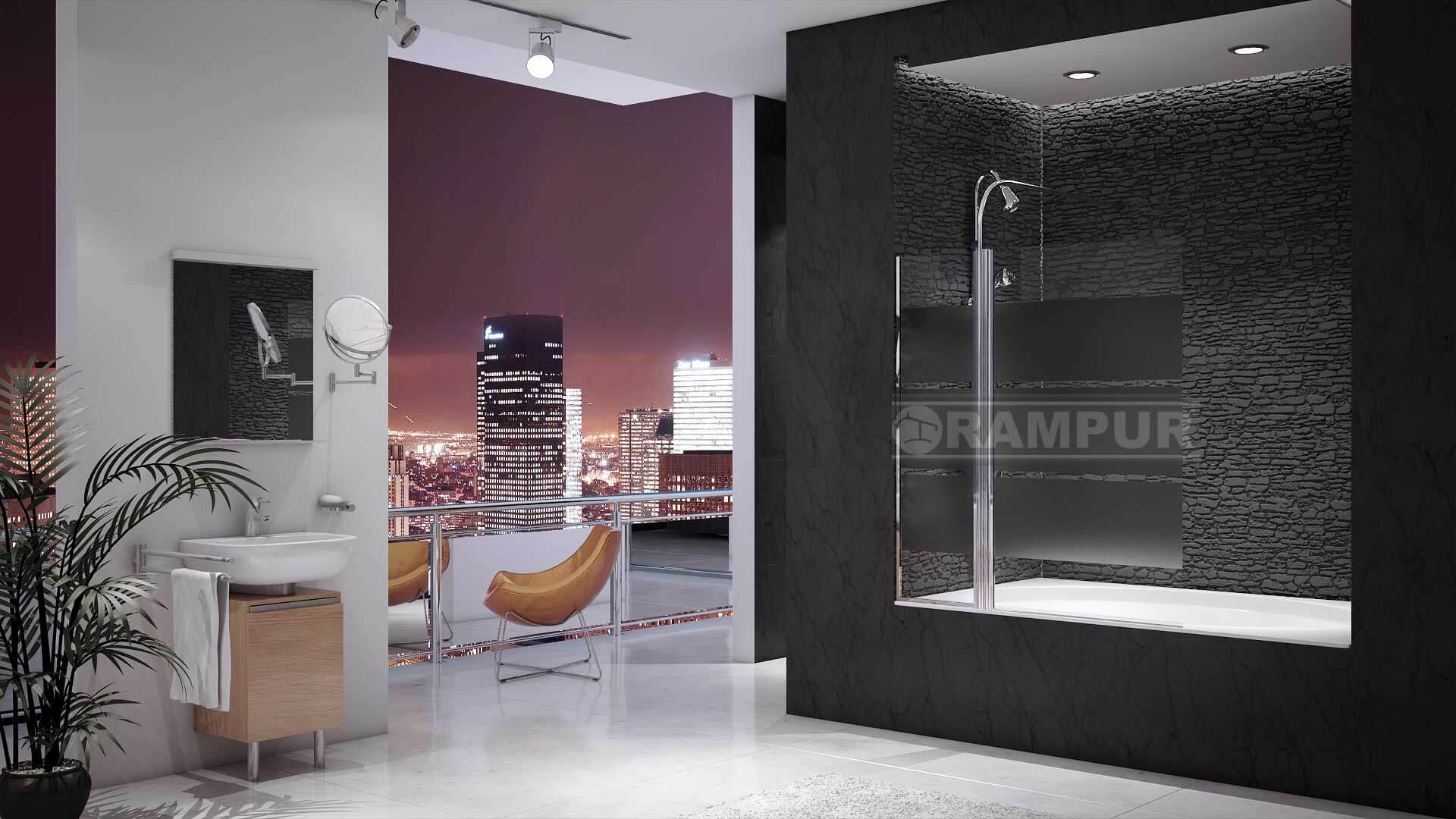 Mamparas Para Baño Rampur:RAMPUR® Mampara De Baño De Vidrio BERMEJO Premium