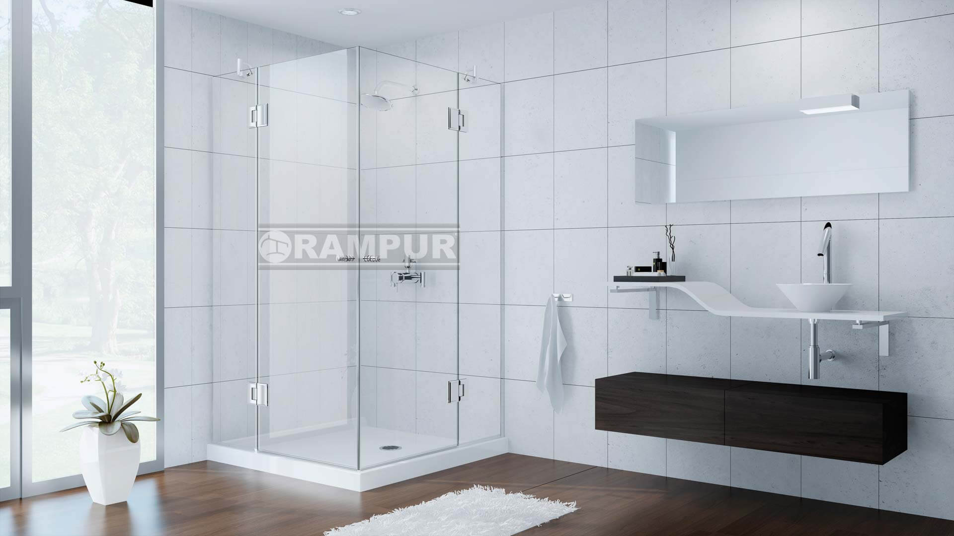 Rampur box para ducha de vidrio epuyen premium - Vidrios para duchas ...