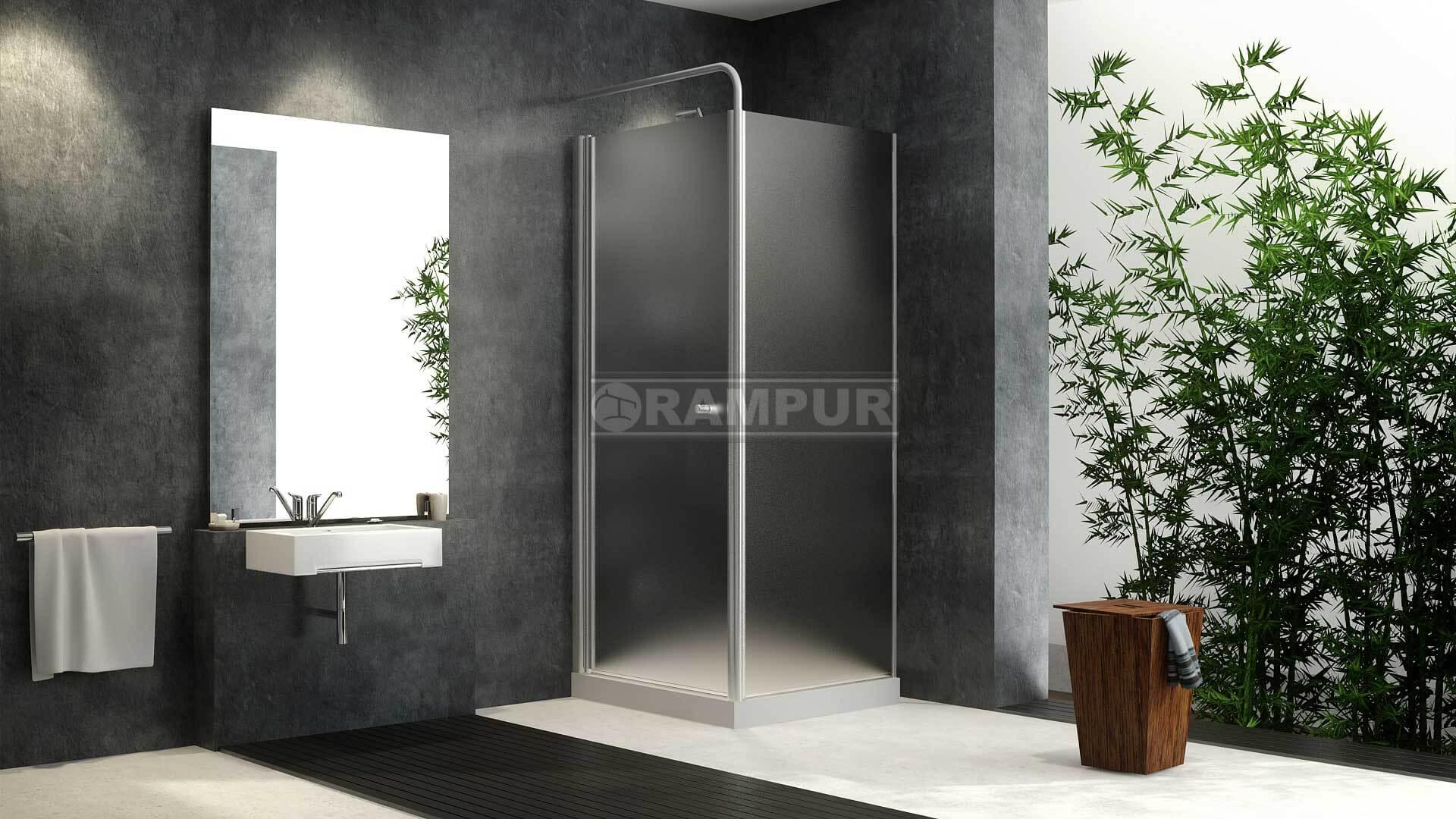 Cabinas De Ducha Medidas:RAMPUR® Cabinas Para Duchas De Vidrio PARANA Premium