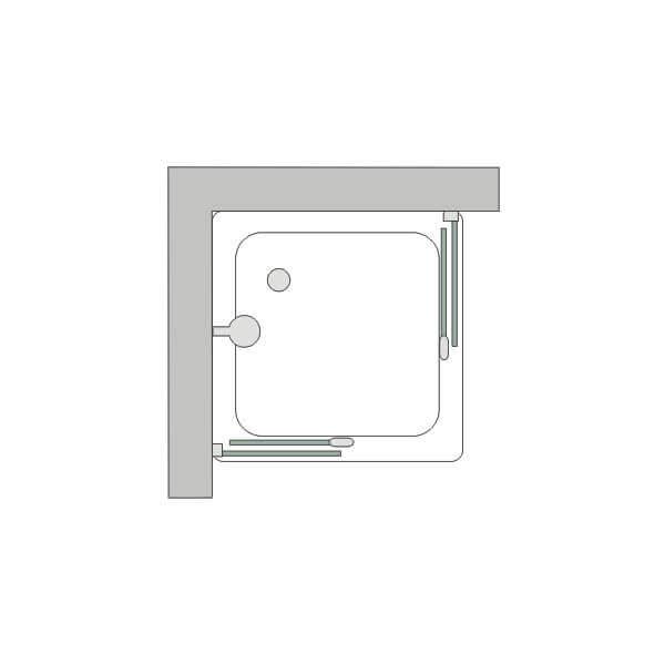 Rampur shopping box de ducha de vidrio sat n blanco for Box de ducha sodimac