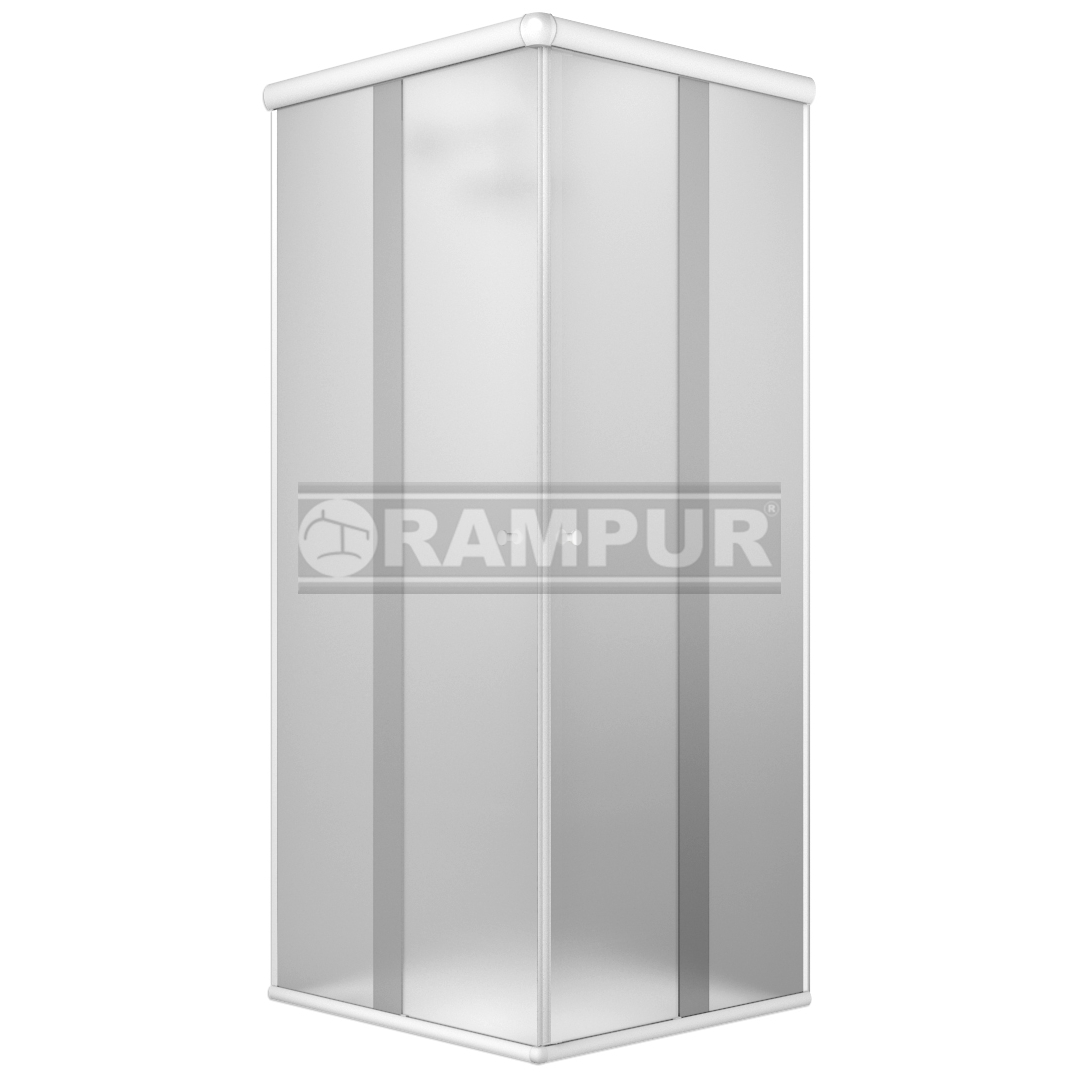 Rampur shopping box de ducha de vidrio sat n blanco for Box de ducha medidas