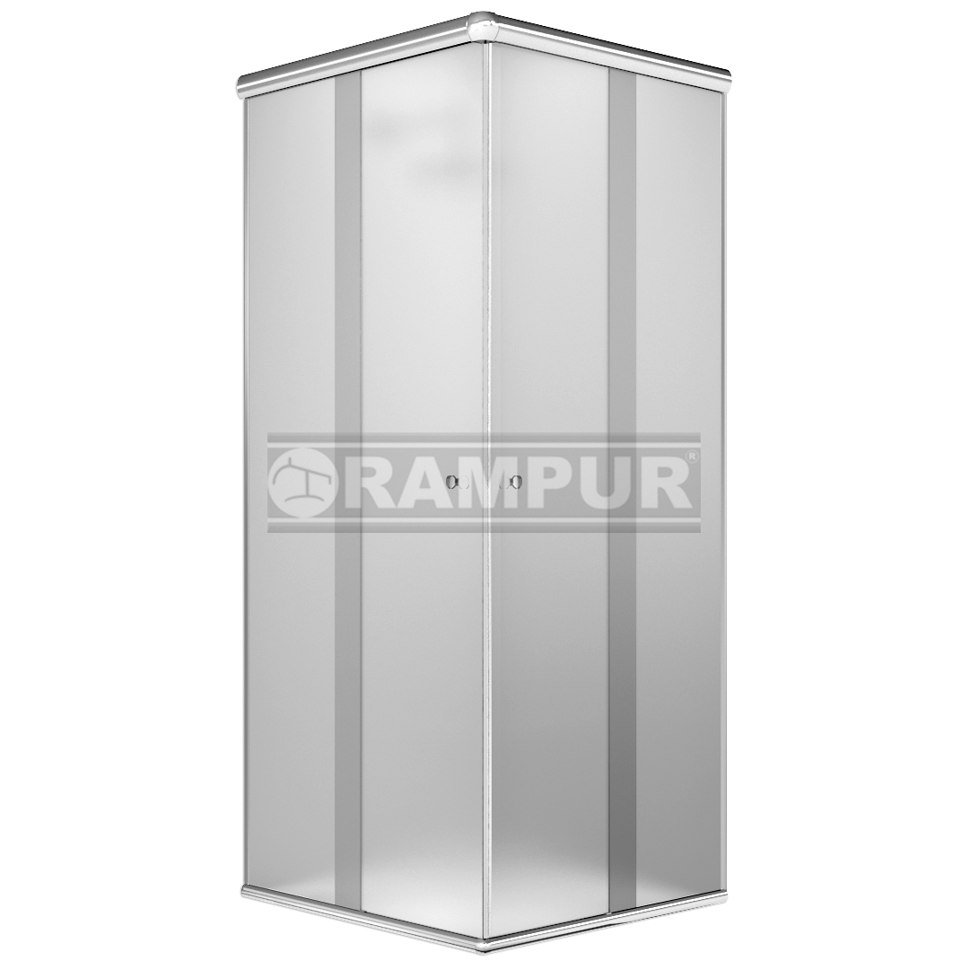 Rampur shopping box de ducha de vidrio sat n plata for Box de ducha sodimac