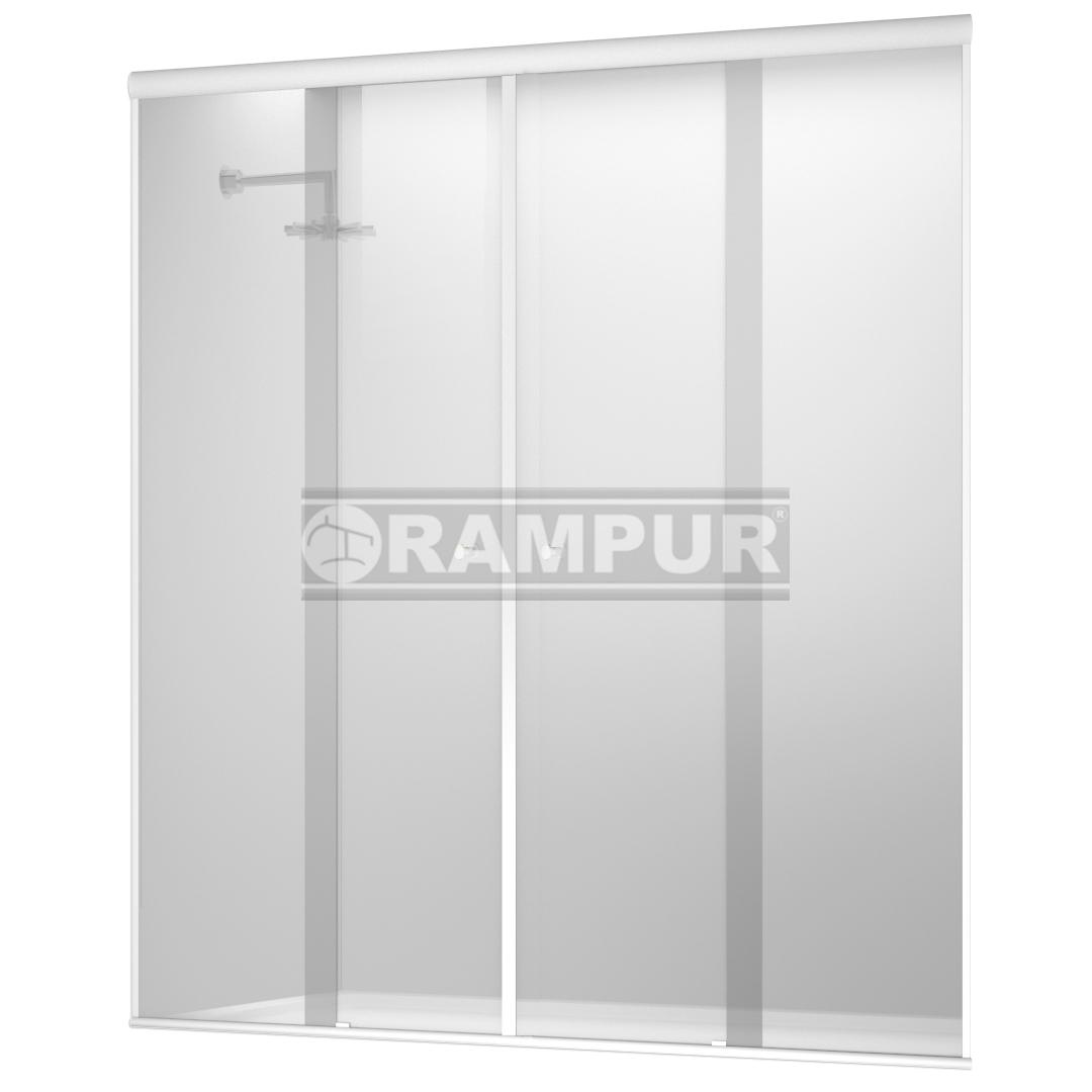 RAMPUR® :: SHOPPING Mampara De Ducha 4 Hojas Incoloro/Blanco