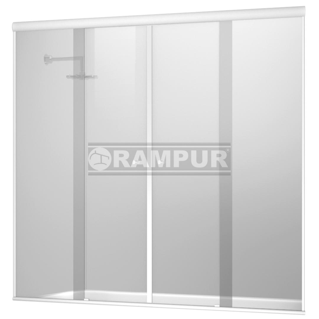 Rampur shopping mampara p ba era 4 hojas incoloro blanco - Mampara para banera ...