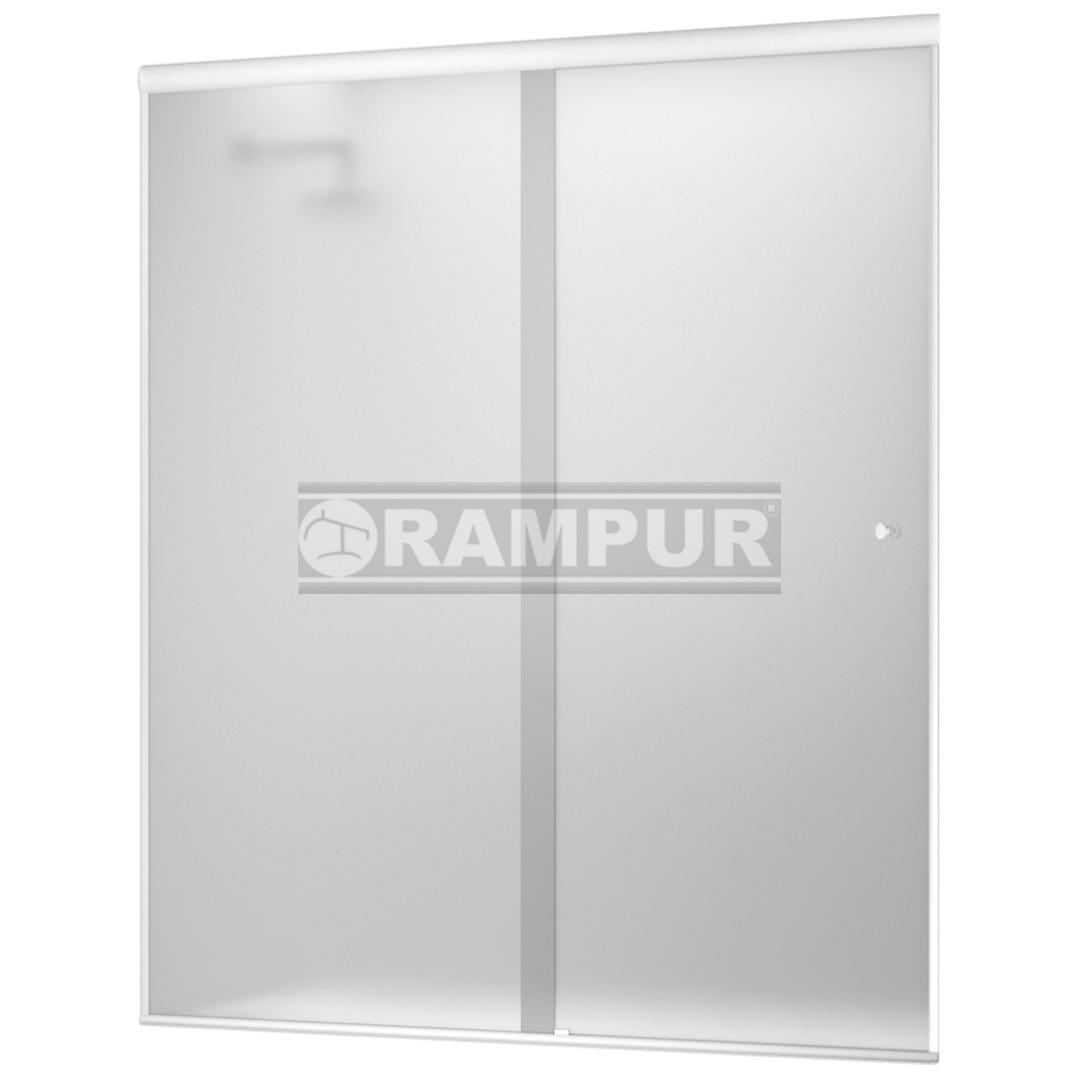 RAMPUR® :: SHOPPING Mampara P/ Ducha 2 Hojas Satén/ Blanco