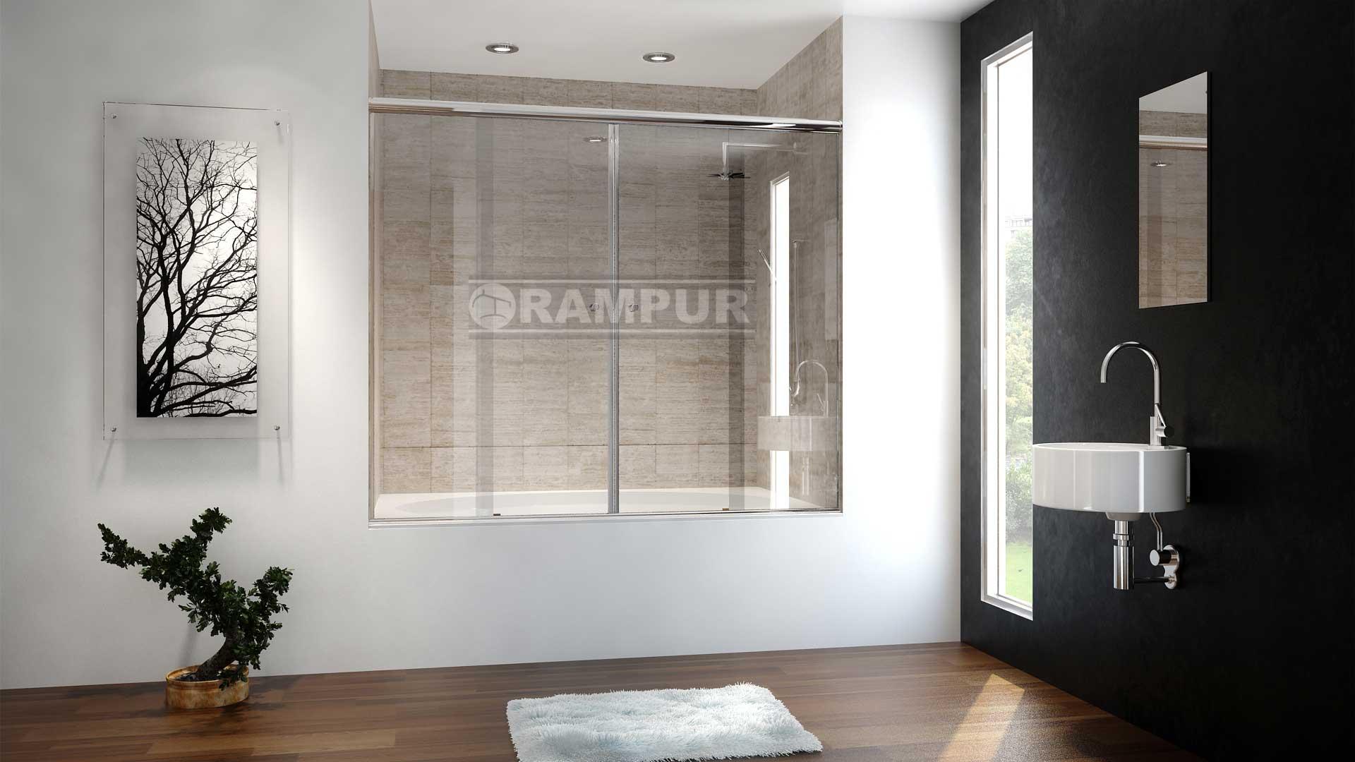 RAMPUR® Mamparas Para Baños De Vidrio LACAR Premium