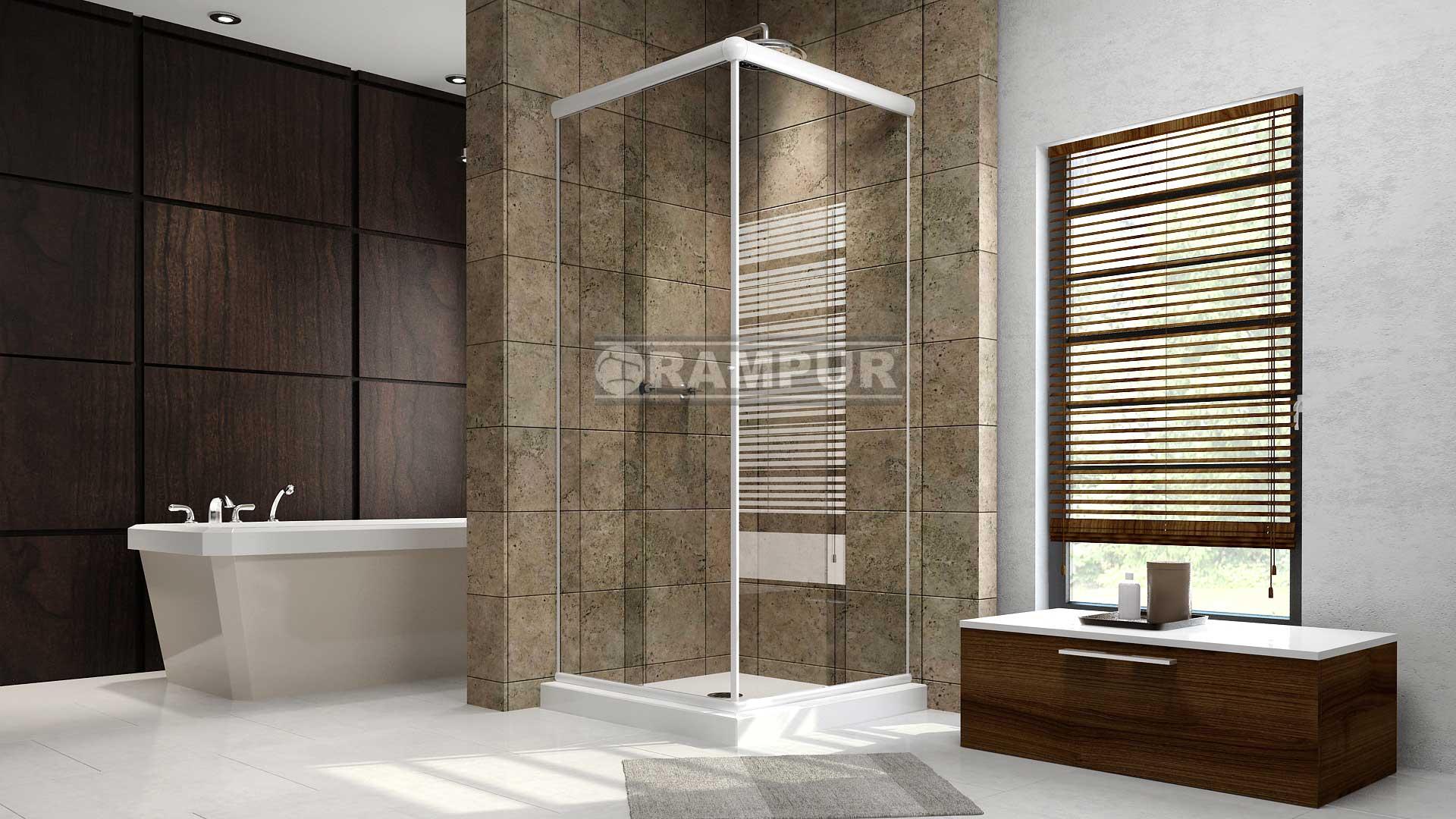 Rampur mampara de vidrio para ducha lanin est ndar Receptaculo ducha a medida