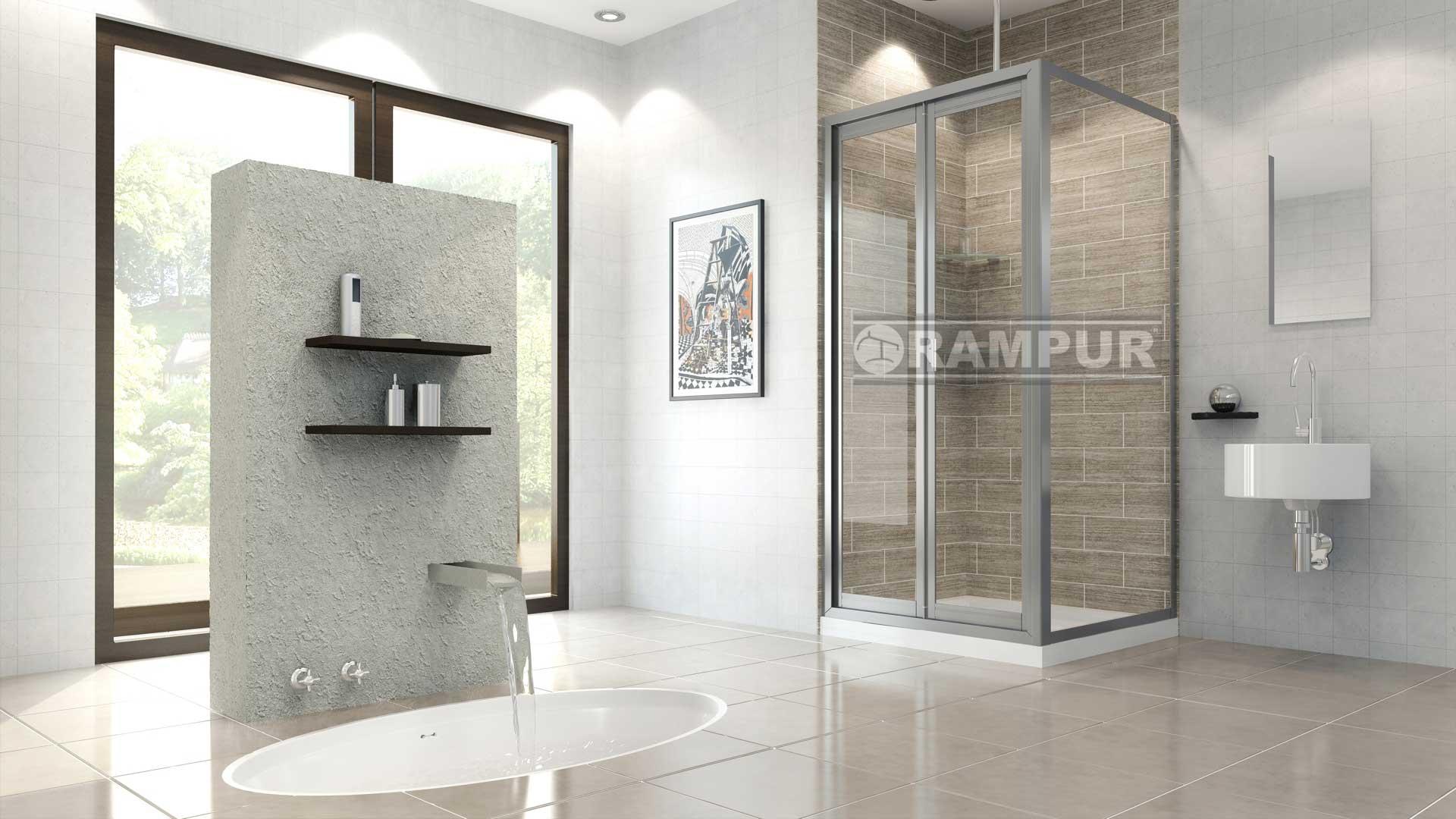 Rampur box puertas plegables vidrio tilcara premium for Box de ducha sodimac